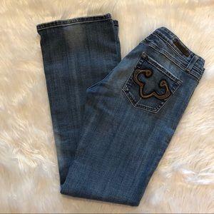 Rerock Express Boot Denim Jeans Womens Size 8